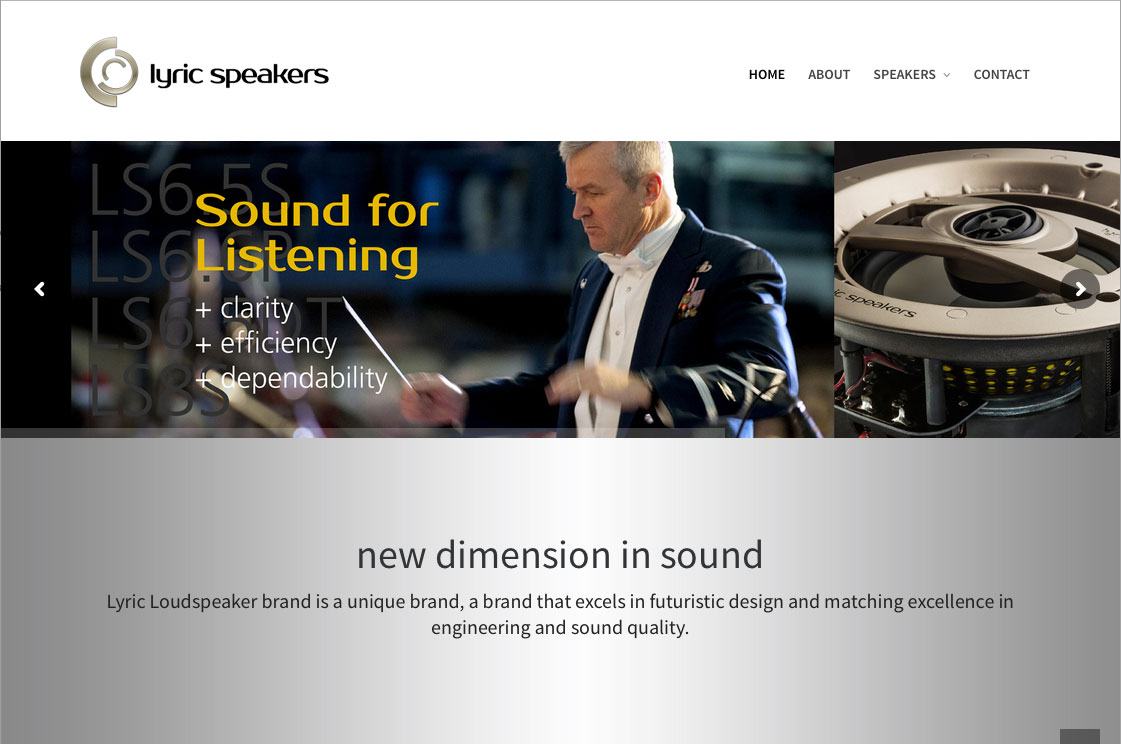 Lyric Speakers Web Winner